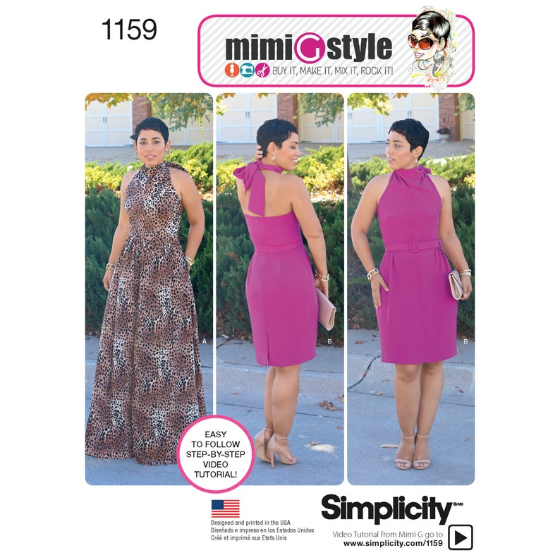 Simplicity Pattern 1159 Misses Halter Dress from Mimi G Style image 0