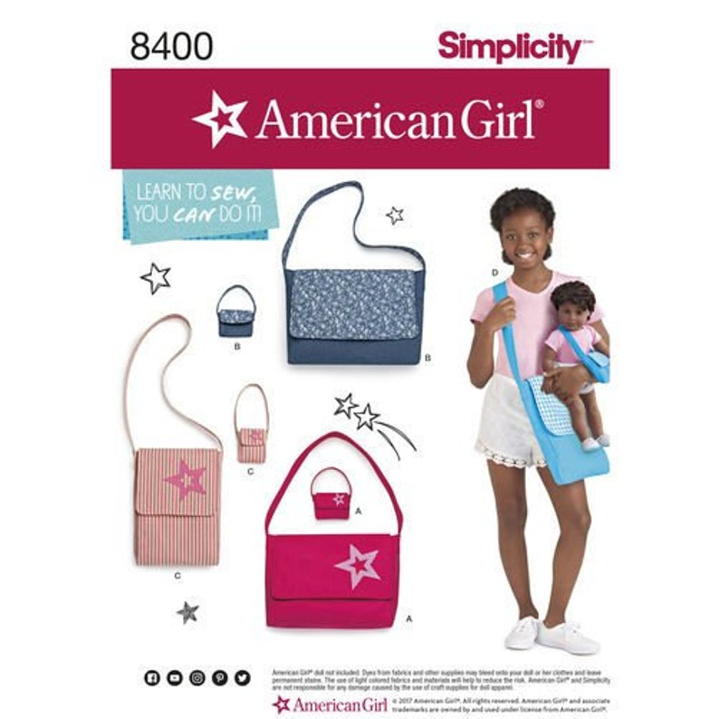 Simplicity Pattern DO678/8400  Learn to Sew Purse Bags for image 0