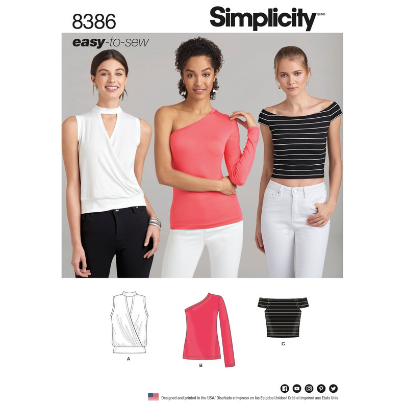 Simplicity Pattern 8386/DO666  Easy to Sew Misses 4-12 or image 0