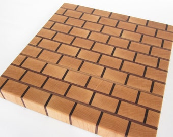 Brick Pattern End-grain Cutting Board