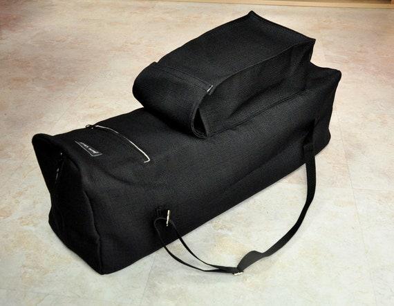 Large Yoga Mat Bag Large Black Yoga Bag With Pockets Etsy