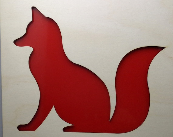 Fox of Plywood and Recycled Aluminum