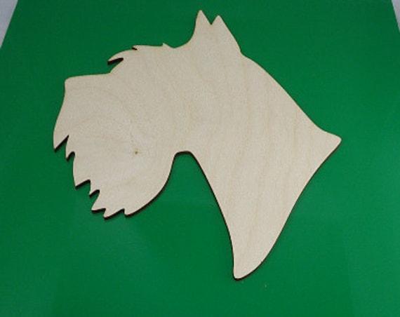 Plywood Schnauzer Dog and Recycled Aluminum