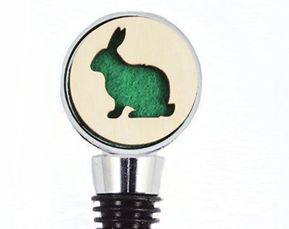 Bunny Wine Stopper - Bottle Stoppers - Wine Bottle Stoppers with Plywood and felt-Gift for a wine lover-Hostess Gift-Housewarming Gift