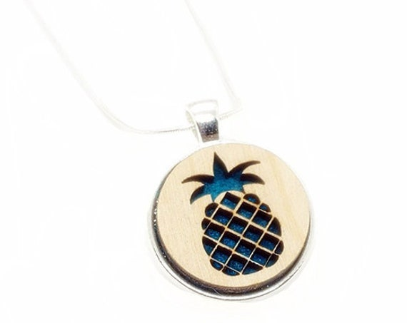 Pineapple pendant of plywood and felt