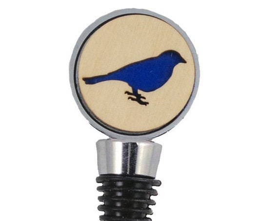 Bird Wine Stopper - Bottle Stoppers - Wine Bottle Stoppers with Plywood and felt-Gift for a wine lover-Hostess Gift-Housewarming Gift