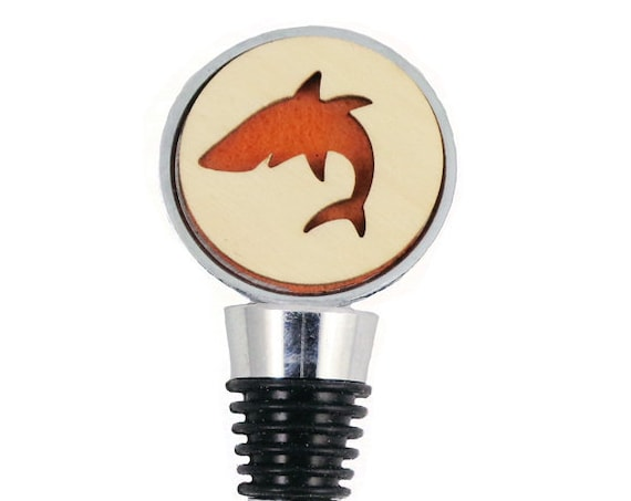 Shark Wine Stopper - Bottle Stoppers - Wine Bottle Stoppers with Plywood and felt-Gift for a wine lover-Hostess Gift-Housewarming Gift