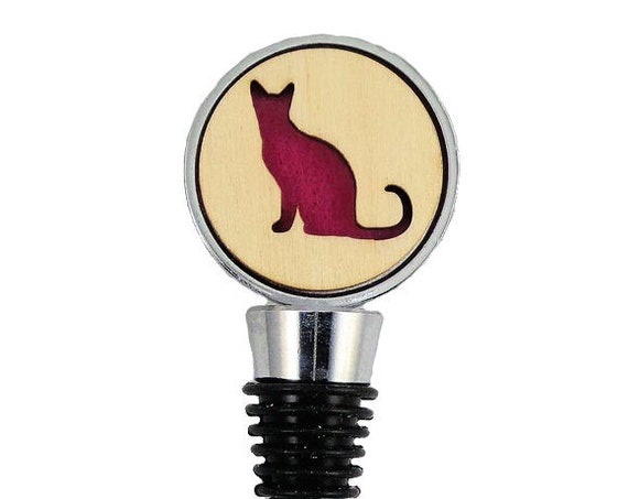 Cat Wine Stopper - Bottle Stoppers - Wine Bottle Stoppers with Plywood and felt-Gift for a wine lover-Hostess Gift-Housewarming Gift