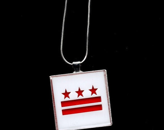 DC Stars and Bars Acrylic pendant