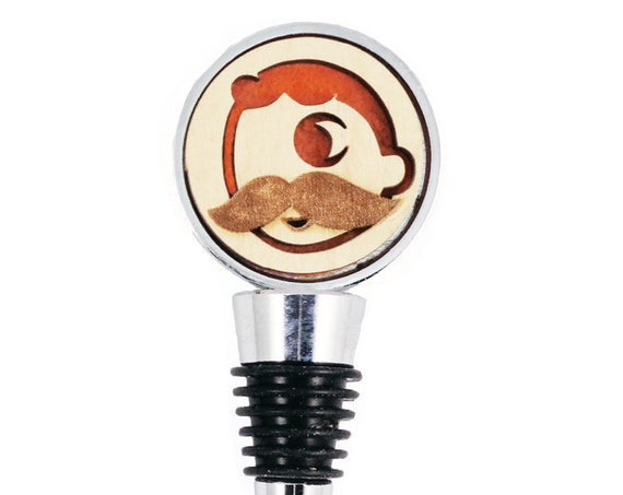 Natty Boh Wine Stopper - Bottle Stoppers - Wine Bottle Stoppers with Plywood and felt-Gift for a wine lover-Hostess Gift-Housewarming Gift