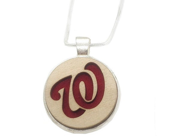 Curly W /Nats pendant of plywood and felt