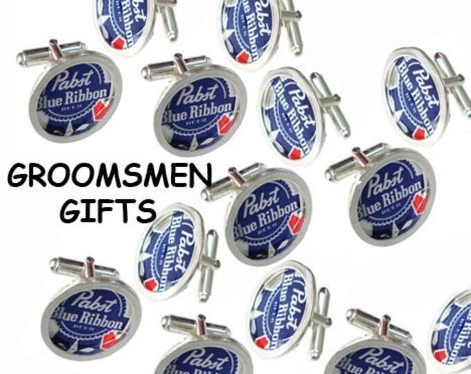 Bottle Cap/ Sterling Silver cuff links groomsmen gifts