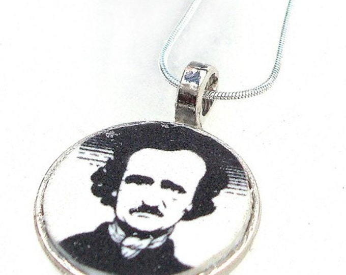 Edgar Allan Poe or custom image pendant with your own photo