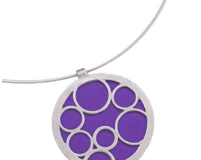 Large Round Purple Bubble Pendant