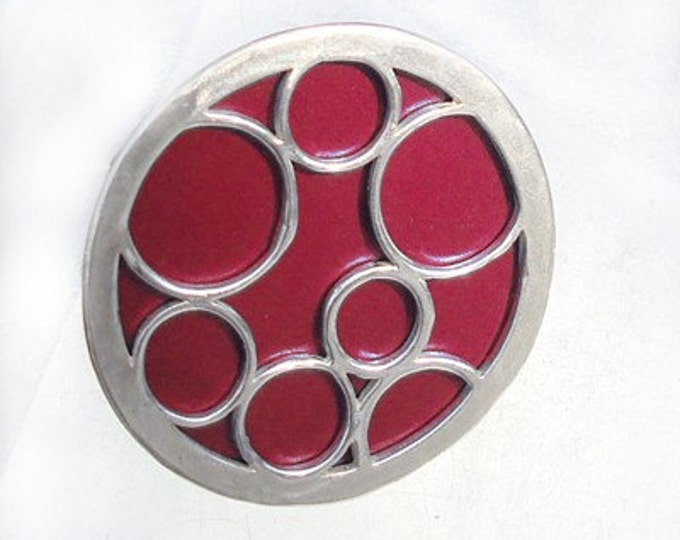 Super Size round bubble ring in red