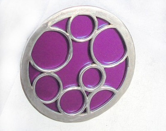Super Size round bubble ring in purple