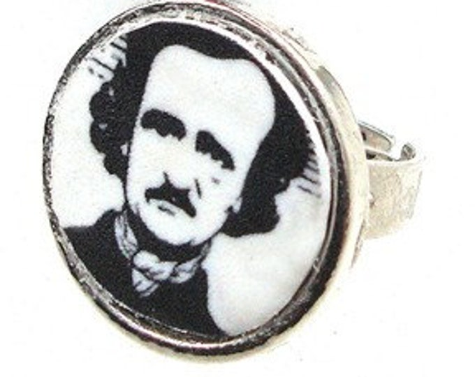 Edgar Allan Poe / valentine's day gifts or custom image ring with your own photo