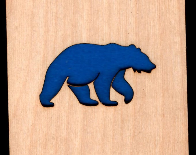 4 Grizzly Bear Coasters wooden laser cut natural eco-friendly Waterproof plywood birch and Felt