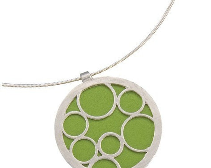Large Round Lime Bubble Pendant