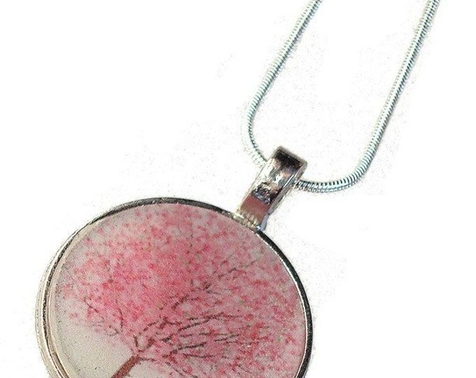 Cherry Tree Pendant or custom image pendant with your own photo