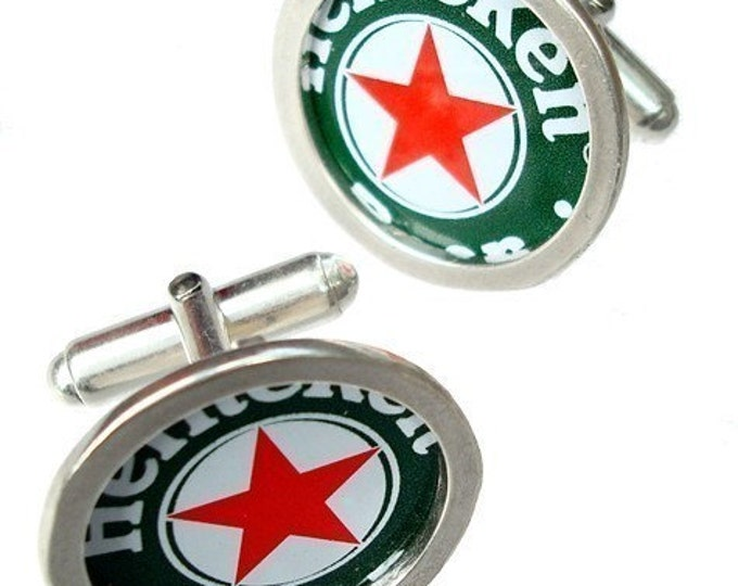 Bottle Cap cufflinks\/ Sterling Silver and cuff links
