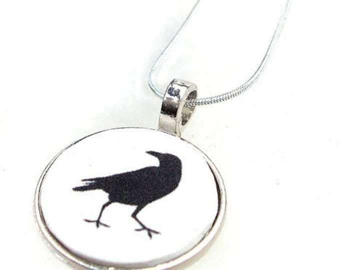 Raven Bird or custom image pendant with your own photo