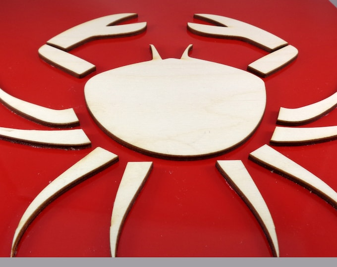 Plywood Crab and Recycled Aluminum
