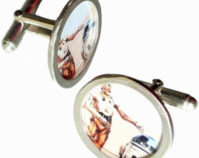 STAR WARS 70's pins/ Sterling Silver cuff links