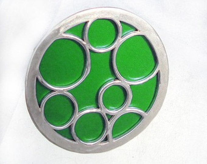 Super Size round bubble ring in green