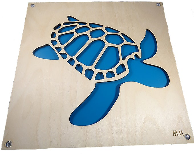 Teal Turtle Plywood and Recycled Aluminum