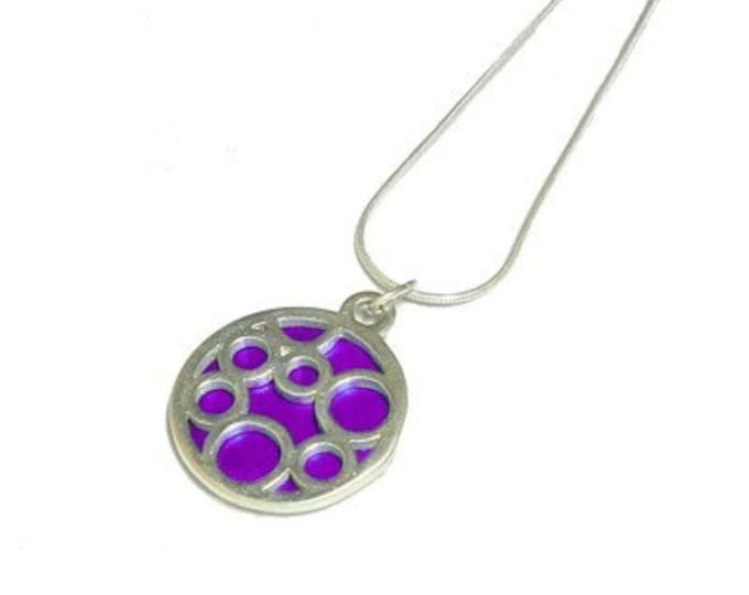 Small Round Purple Bubble pendant