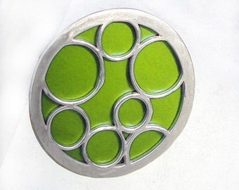 Super Size round bubble ring in lime