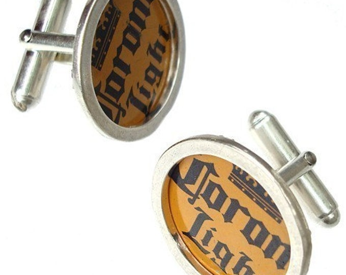 Corona Light Bottle Cap/ Sterling Silver cuff links