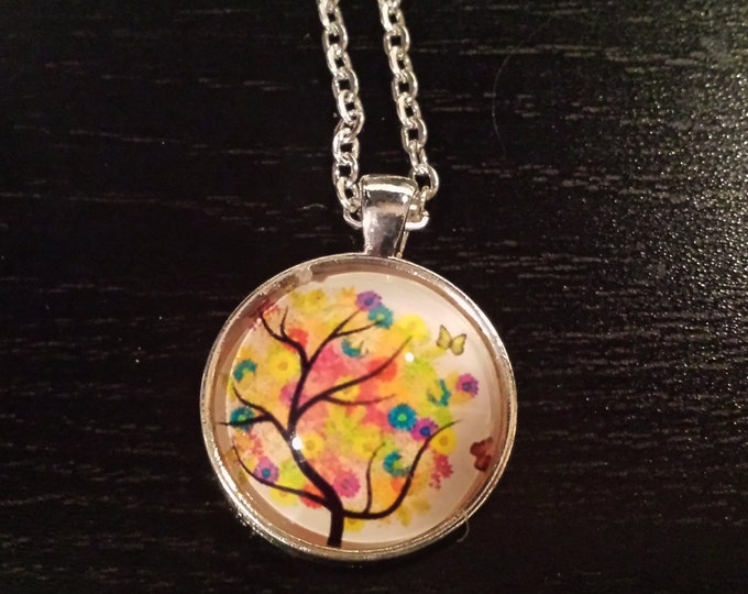 water color Butterfly tree pendant