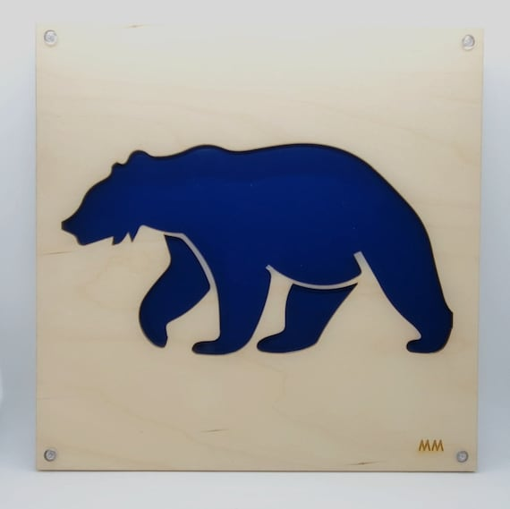 Grizzly Bear Set No Waste Design Plywood and Recycled Aluminum