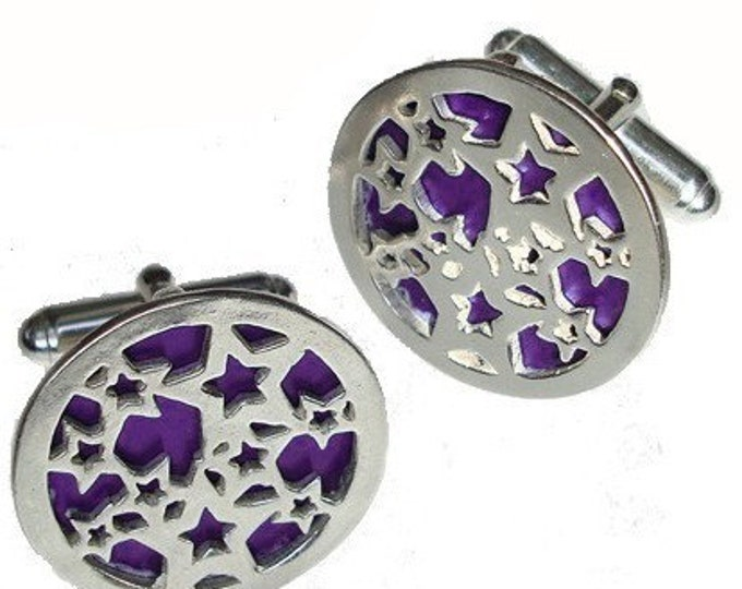 Star Cuff links Perfect for valentine's day gifts, Graduate or Fathers Day Gift