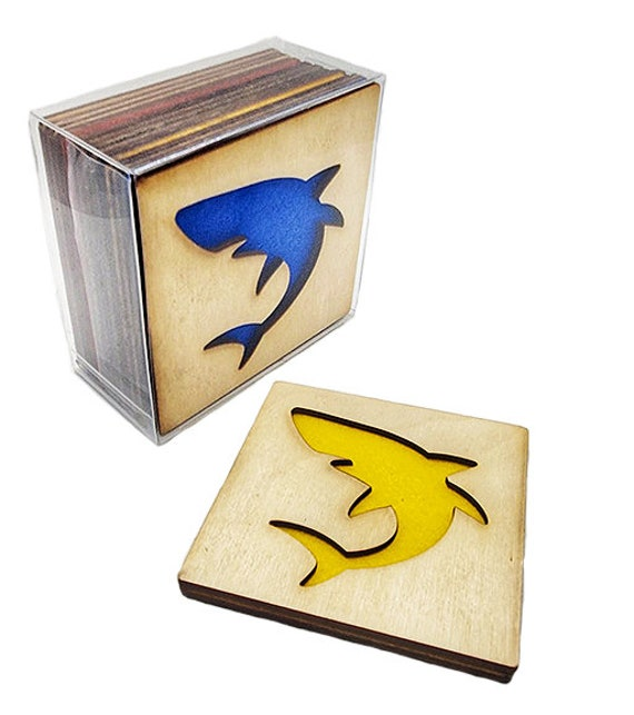 4 TREE OF LIFE Coasters wooden laser cut natural eco-friendly Waterproof plywood birch and Felt