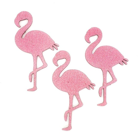 Wooden Flamingo Magnets 3 pcs - Fridge magnets - Wedding magnets - Save the date magnets- Custom