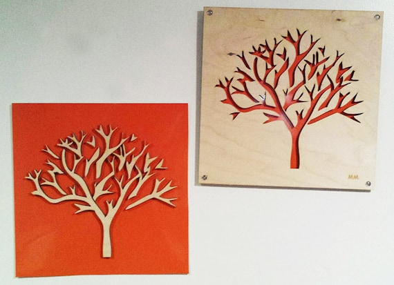 2 Plywood/Recycled Aluminum Trees