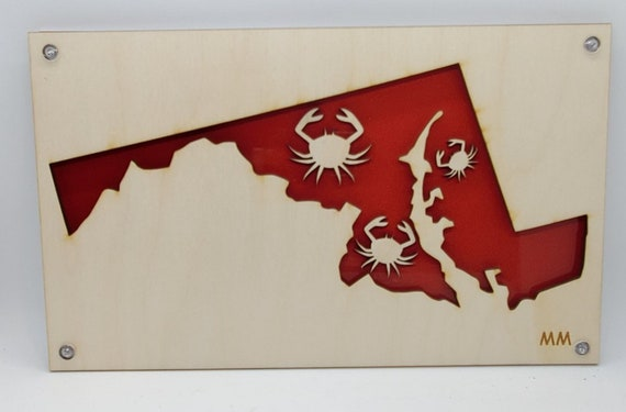 Crab/Maryland of Plywood and Recycled Aluminum