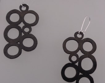 Recycled Rubber Earrings