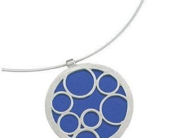 Large Round Blue Bubble Pendant