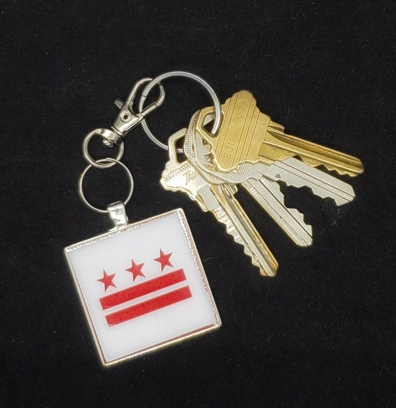 DC Flag Acrylic and Stainless Steel Keychain