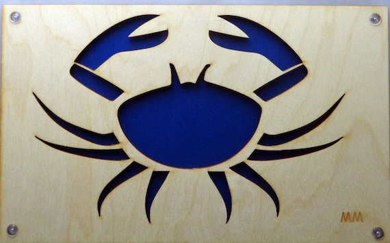 Crab Plywood and Recycled Aluminum in Blue