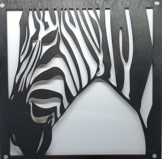 Plywood and Recycled Aluminum Zebra