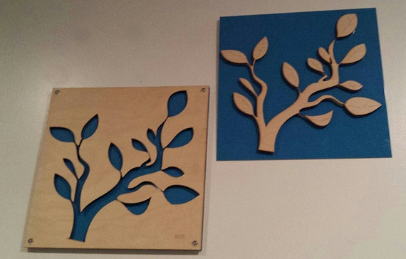 Branch SET of Plywood/Recycled Aluminum in Blue