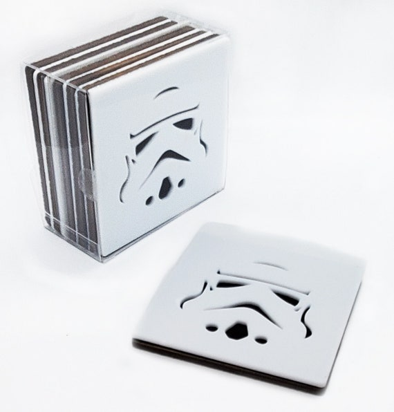 4 Stormtrooper Coasters of acrylic andWaterproof plywood birch and Felt