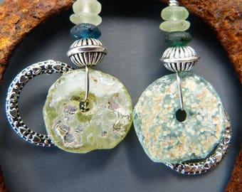 Ancient Roman Glass Shard Earrings