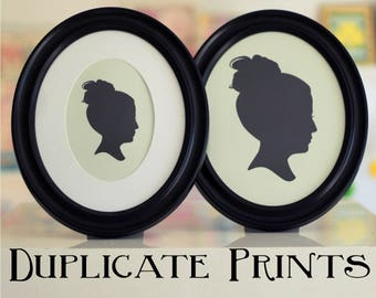 Add Duplicate Prints to your Order -  Custom Silhouette Duplicate Prints