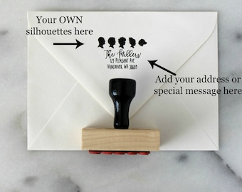Custom Silhouette Rubber Stamp / Custom Address Stamp / Personalized Silhouette Address Stamp by Simply Silhouettes - made from your photos